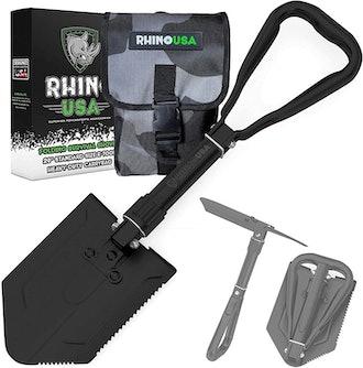 Rhino USA Folding Survival Shovel w/Pick