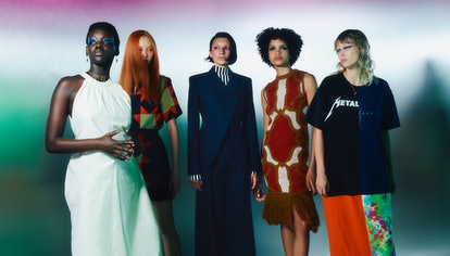 Models wear looks by the designers featured in Net-A-Porter's Vanguard Class of 2021.