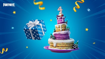 fortnite birthday 2021 cake and presents