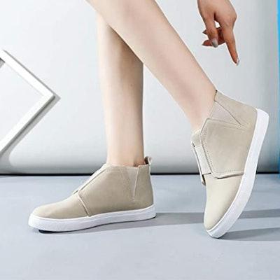 ZGR High Top Slip-On Sneaker Booties