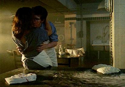 Lizzie Brocheré and Evan Peters on Season 2 of FX's 'American Horror Story'