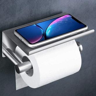 UgBaBa Toilet Paper Roll Holder with Oversized Phone Shelf