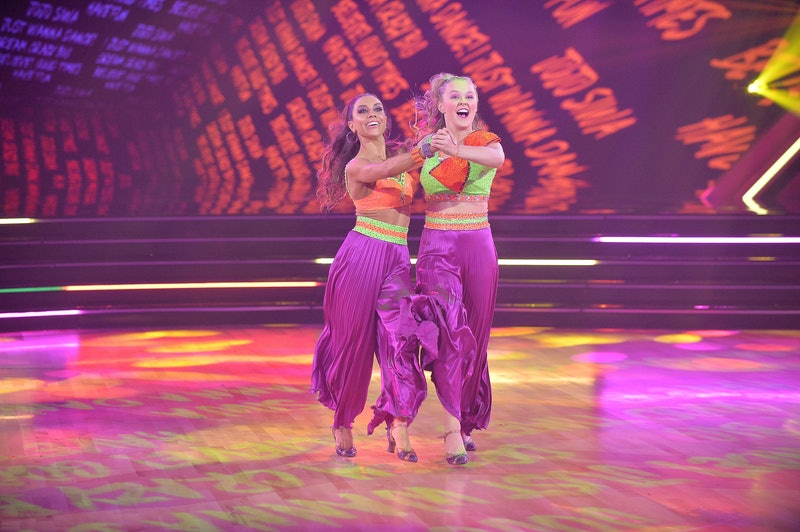 'Dancing With the Stars' contestant JoJo Siwa dances on the Season 30 premiere with partner Jenna Jo...