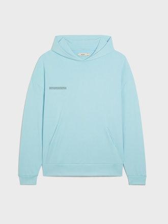 Celestial Blue women's hoodie from PANGAIA.