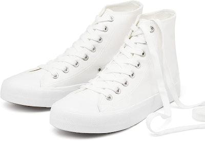 hash bubbie Women's High-Top Canvas Sneakers