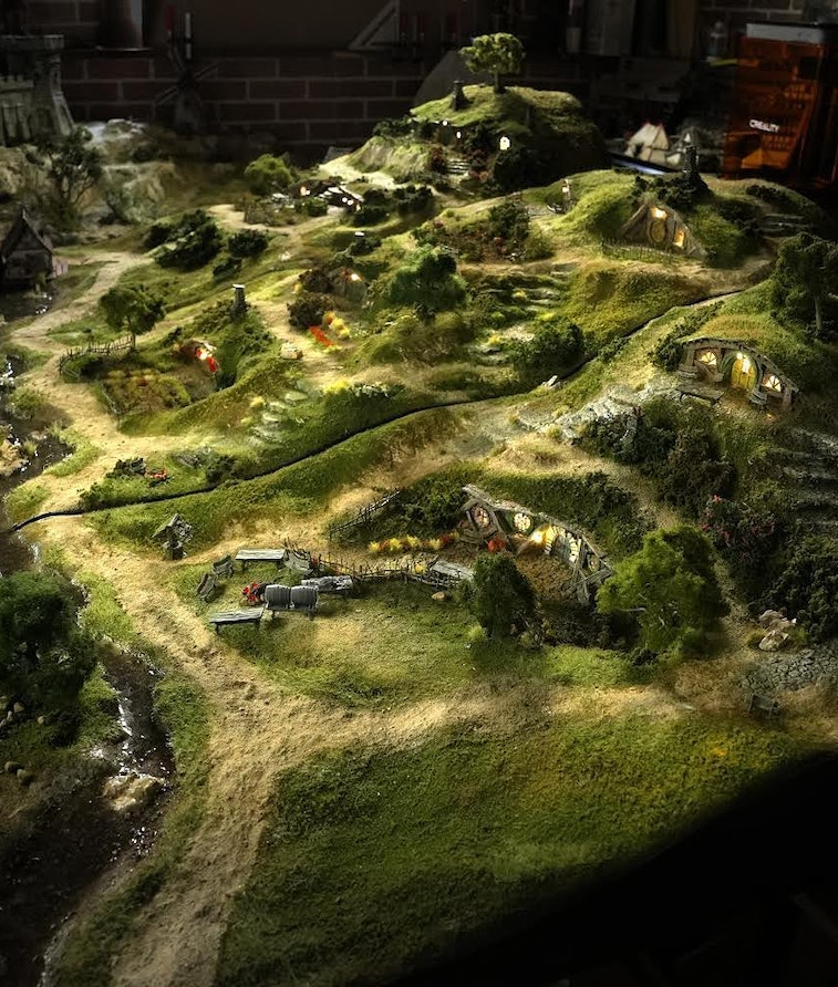 A replica of the Shire for wargaming built by YouTuber Real Terrain Hobbies. Games. Gaming. Tabletop...