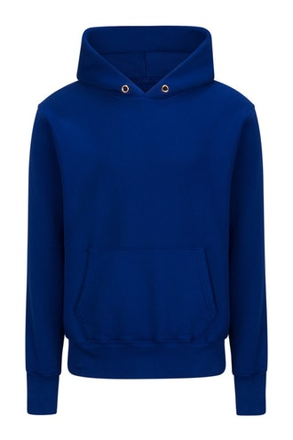 Electric Blue heavyweight hoodie from Les Tien.