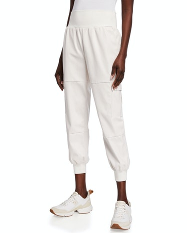Giles High-Waist Faux Leather Jogger Pant