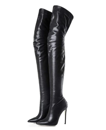 Leather Thigh High Boot