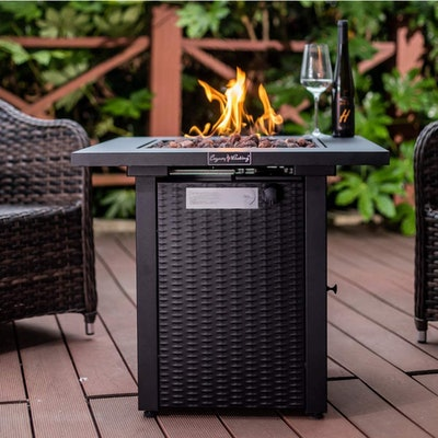 Legacy Heating Wicker & Rattan Fire Pit Table