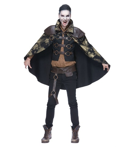 creepy Halloween costume with cape for adults