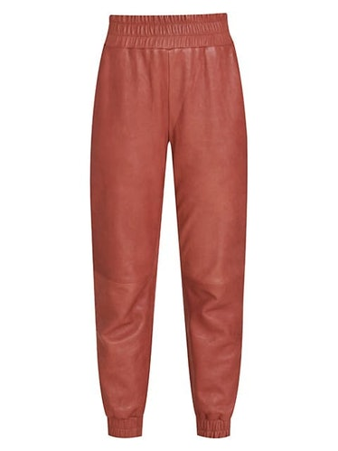 Wasia Leather Joggers