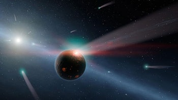 planet bombarded with comets