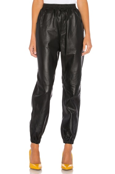 Tracey Leather Joggers