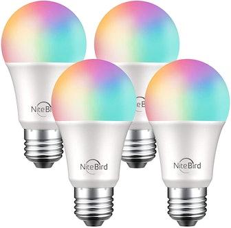 NITEBIRD Color Changing Smart Bulbs (4 Pack)
