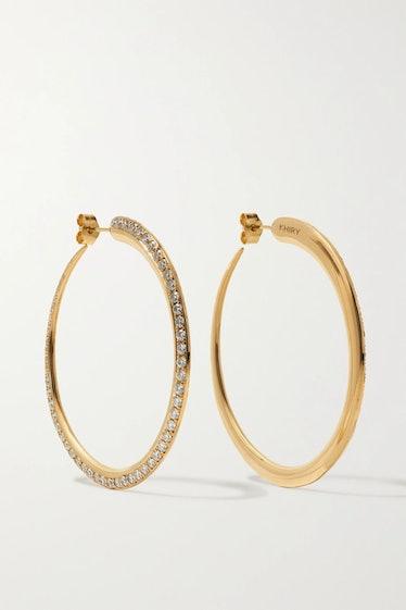Tiniest Khartoum 18-Karat Gold Diamond Hoop Earrings  KHIRY