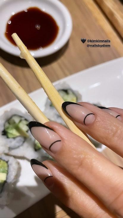 Kourtney Kardashian French Manicure
