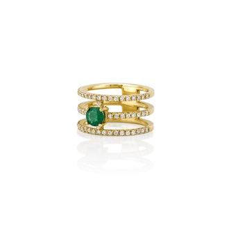 Gigi emerald ring from Sarah Chloe Jewelry.
