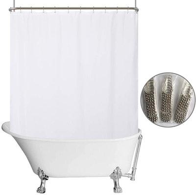 N&Y Home Clawfoot Tub Shower Curtain Liner