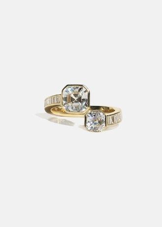 Duét Asscher Ring from KatKim.