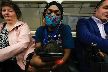 masks, Covid-19, subway
