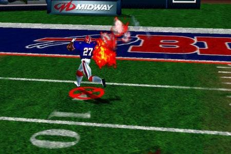 A screenshot from 'NFL Blitz'