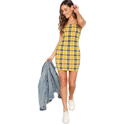 Floerns Plaid Cami Dress