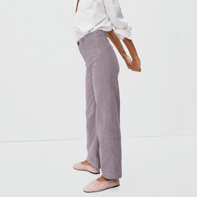 wide leg corduroy pant from sustainable brand, everlane