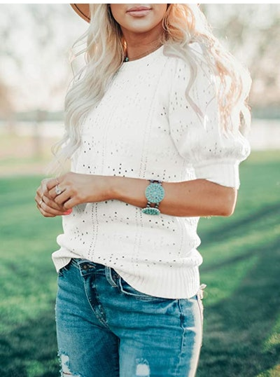 Foshow Puff Short Sleeve Knit Shirt