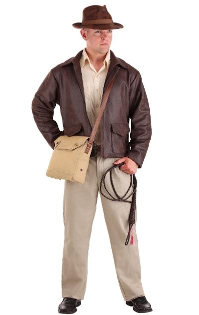 Man wearing an Indiana Jones costume