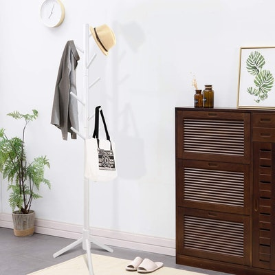 Clewiltess Wooden  Coat Rack Stand