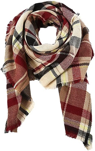 American Trends Classic Plaid Large Scarf