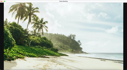 These tropical beach backgrounds for Zoom will make you feel like you're on vacation.