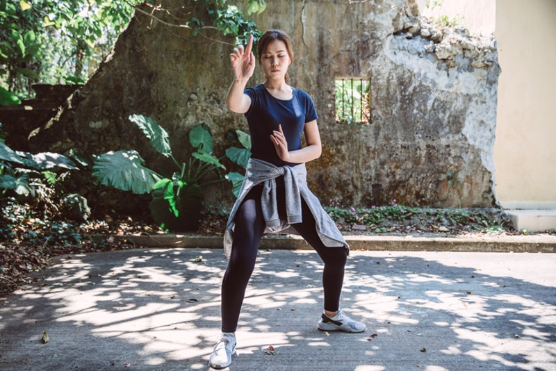 An expert explains the differences between tai chi vs. qi gong and how both practices benefit your e...