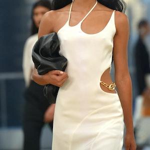 runway white dress