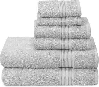 Elvana Home Ultra Soft Cotton Towels (6-Pack)