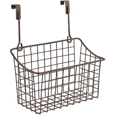 Spectrum Over The Cabinet Grid Storage Basket