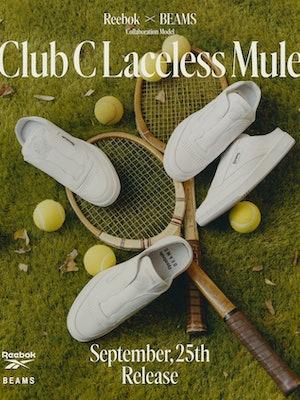 Beams Reebok Club C Laceless Mule