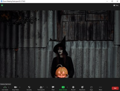 These Halloween Zoom backgrounds include a witchy look.