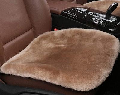 Dotesy Genuine Sheepskin Front Seat Cover