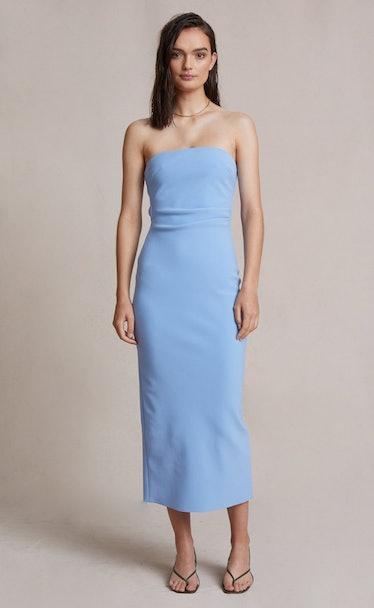 Noa baby blue midi dress from BEC + BRIDGE.