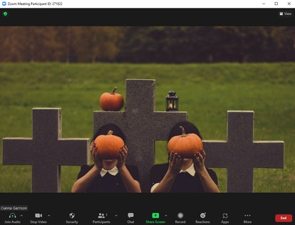 These Halloween Zoom backgrounds include a creepy graveyard.