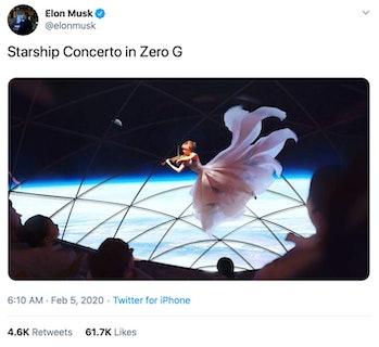 Musk's Twitter post.