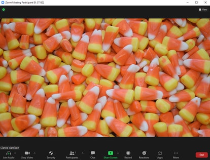 These Halloween Zoom backgrounds include sweet candy corn.