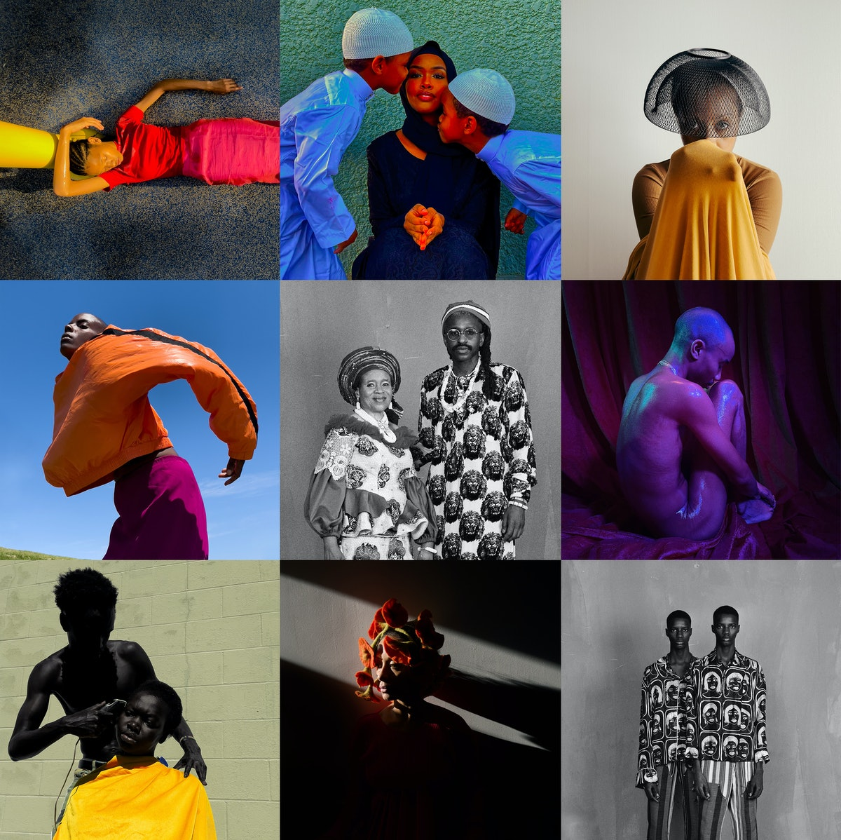 A collage of photos by Quil Lemons, Djeneba Aduayom, Brad Ogbonna, Isaac West, and Arielle Bobb-Will...