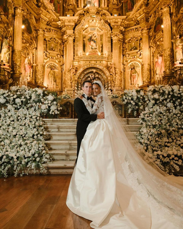 یاسمین توکس و خوان دیوید بوررو در روز عروسی خود