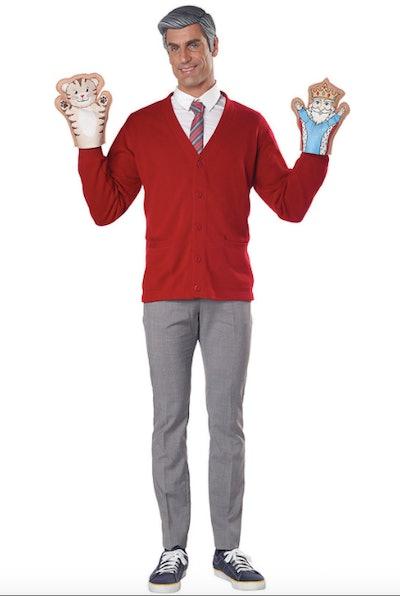 Man wearing Mr. Rogers costume