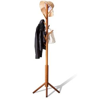 BMOSU Bamboo Coat Rack