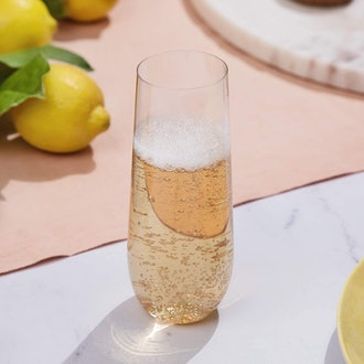Stemless Plastic Champagne Flutes (24-Pack)