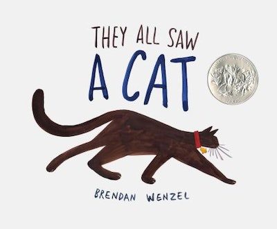 'They All Saw A Cat' written and illustrated by Brendan Wenzel